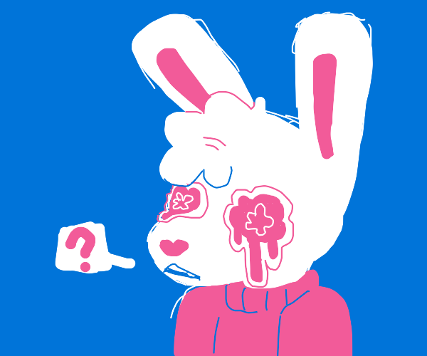 questioning crying bunny
