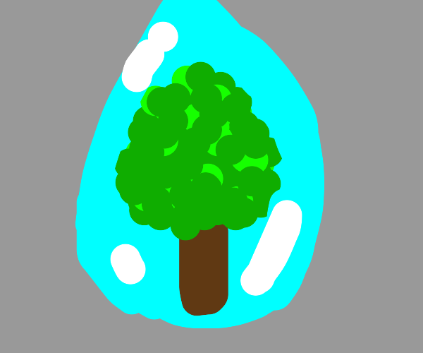Tree in water droplet