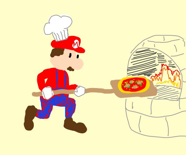 mario the pizza chef