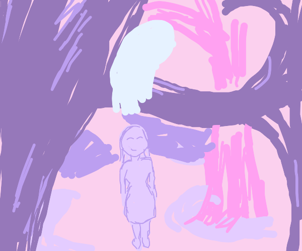 Girl sees a ghost hanging out in a tree