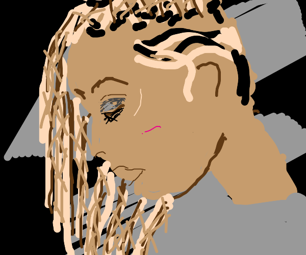 Girl with cornrows waves