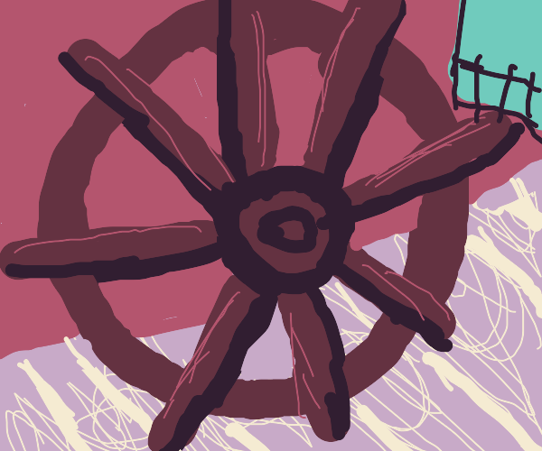 Close up of a pirate wheel