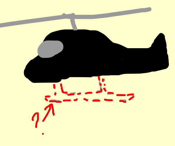 Helicopter with no landing gear