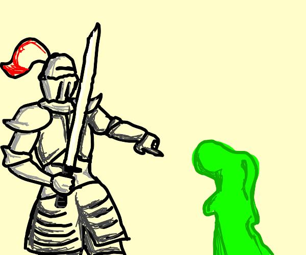 Knight vs Green monster