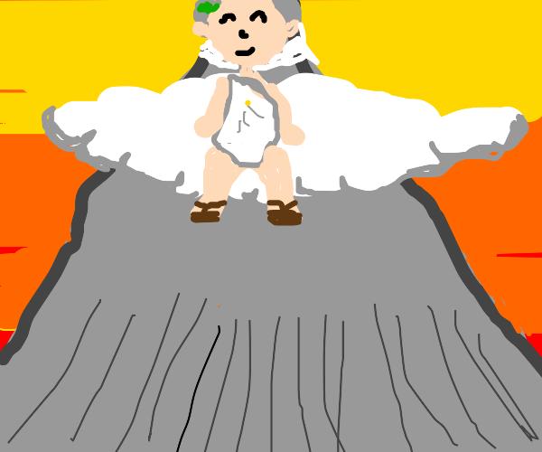 Zeus happy on Olympus