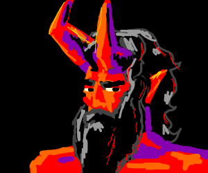 Devil hates shaving