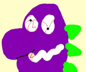 Barney smokes weed