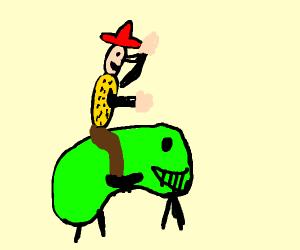cowboy riding some big beans