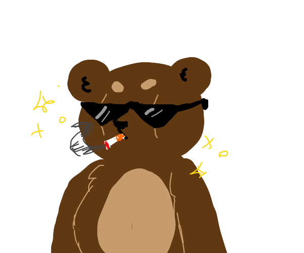a cool bear with sunglasses