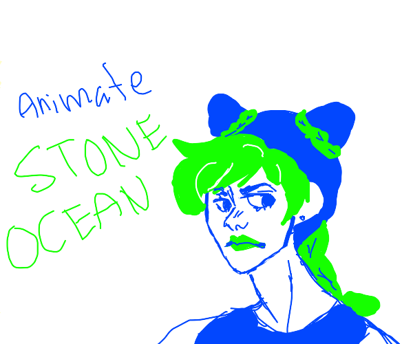 """character says """"animate stone ocean"""""""