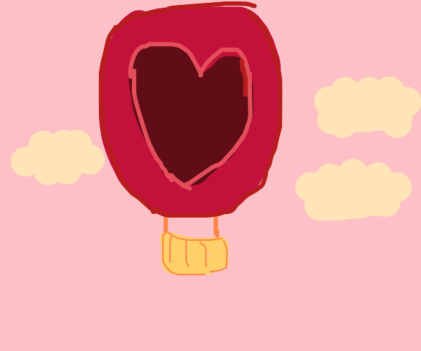 Hot love air balloon