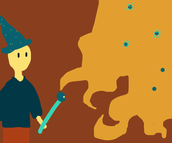 Wizard casts fireball at Corona virus