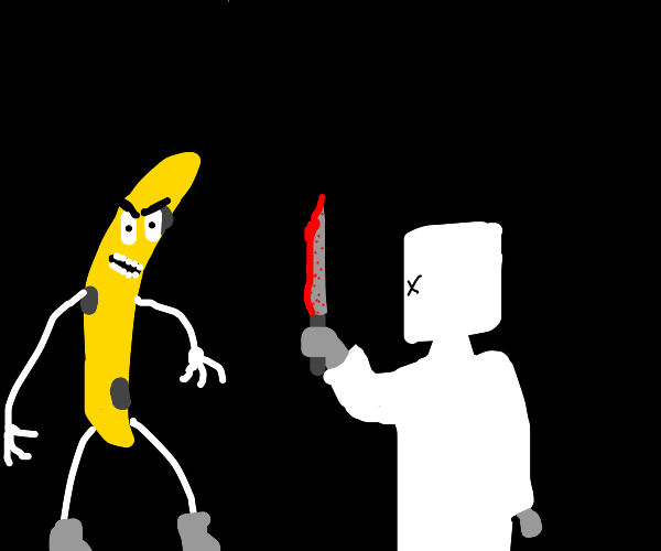 Banana challenges marshmallow to duel