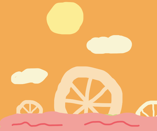 Wheels floating in the sea