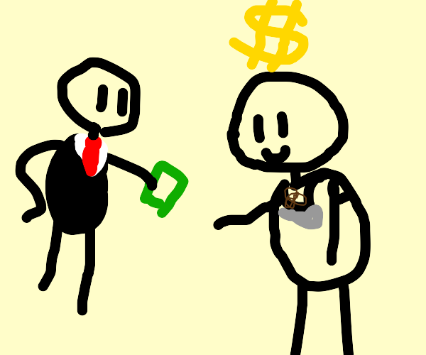 man gets payed