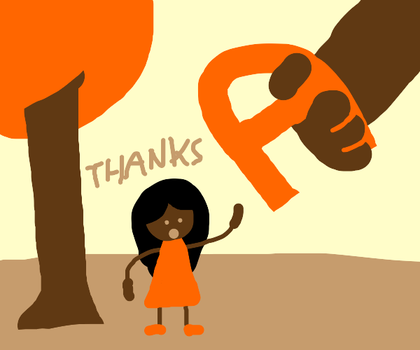 Girl gets a letter from a giant