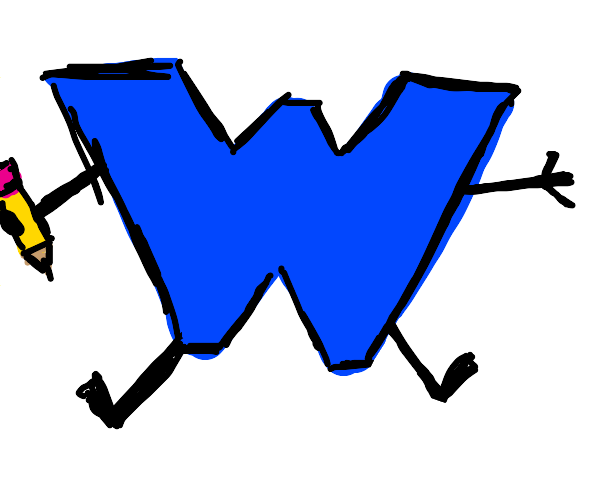 Drawception but the mascot is W instead of D