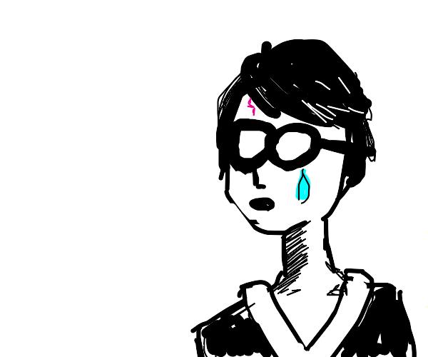 A sad Harry Potter