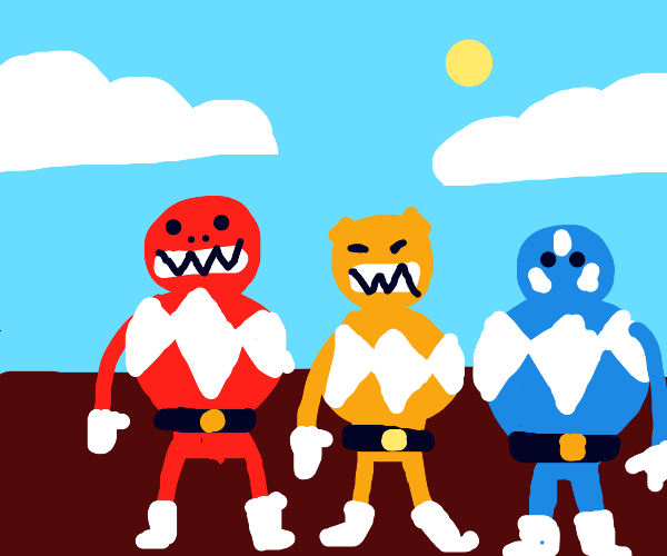 One-armed steroidal Power Rangers