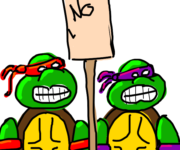 Ninjas protest walking