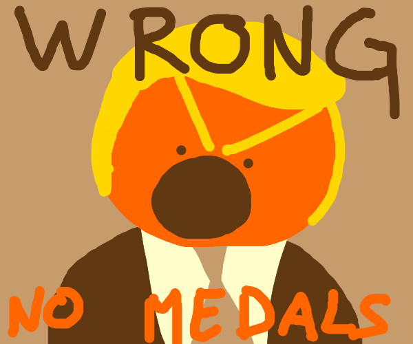 angry guy doesn't win medals