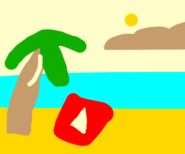 YouTube chillaxin at the beach