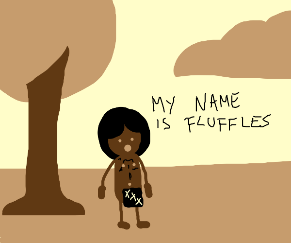 Fluffles the naked guy