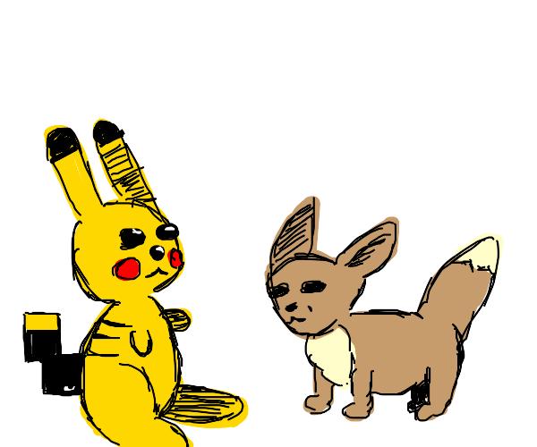 Pikachu x Eevie
