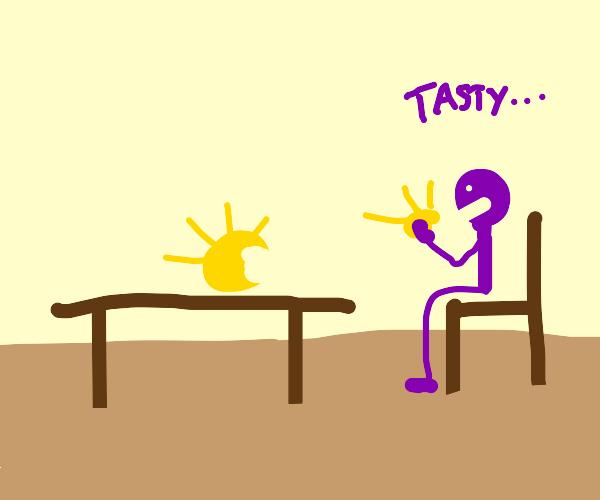 stickman enjoying the sun