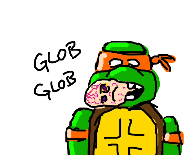 Mike eating a glob monster
