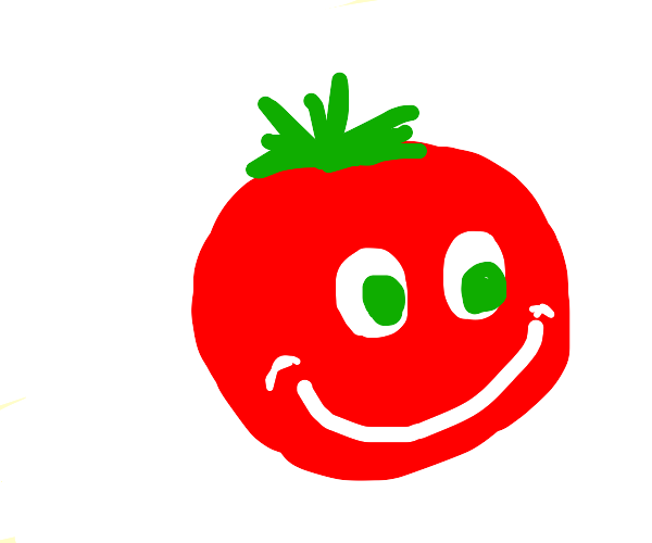 Happy about tomatoes with eyes