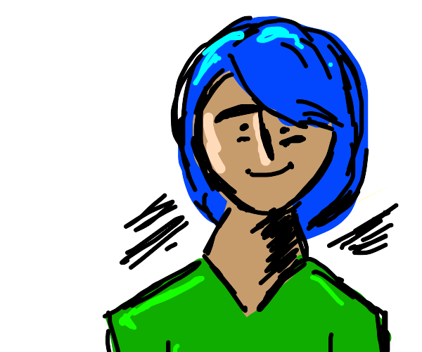 Blue haired boy