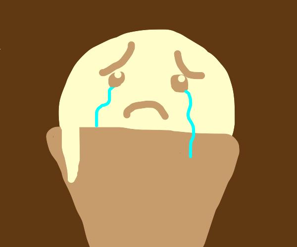 crying ice cream