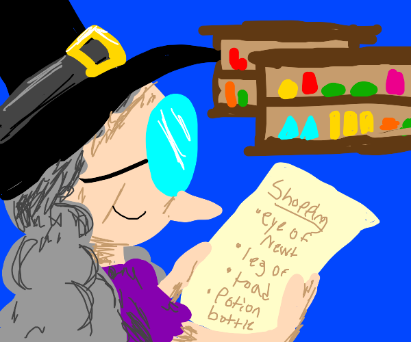 Witch's shopping list