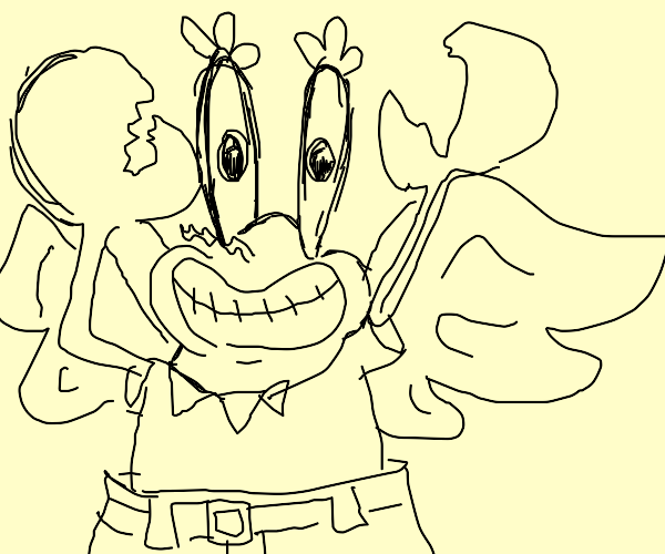 Mr Krabs with wings
