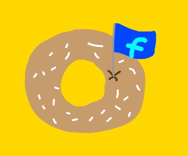 Facebook doughnut