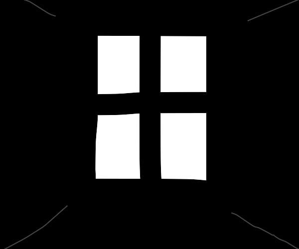 A window, it is in the void.