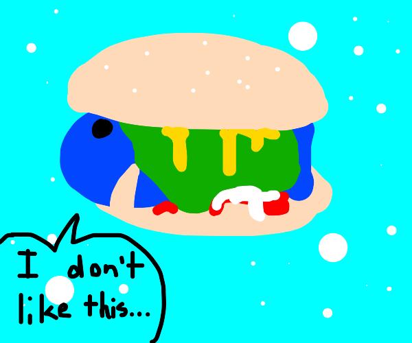 Fish doesn't like a fish burger