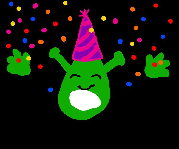 It's Shrek birthday my dudes