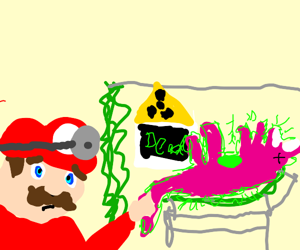 Dr.Mario diagnoses Radioactive Barney as Dead