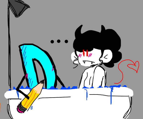 taking a drawception bath