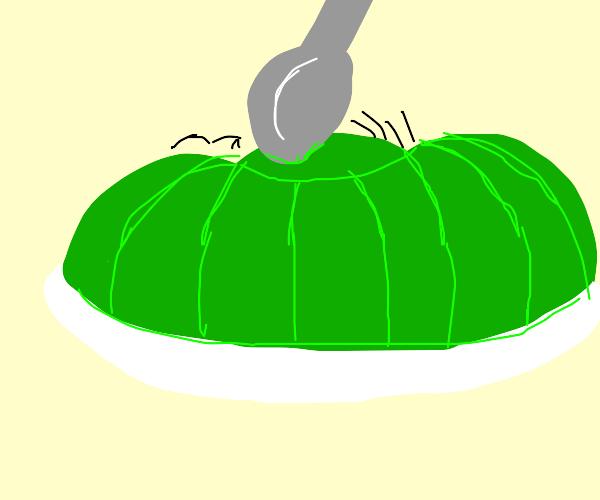 OOF green gelatin