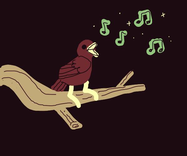 musical birb on branch