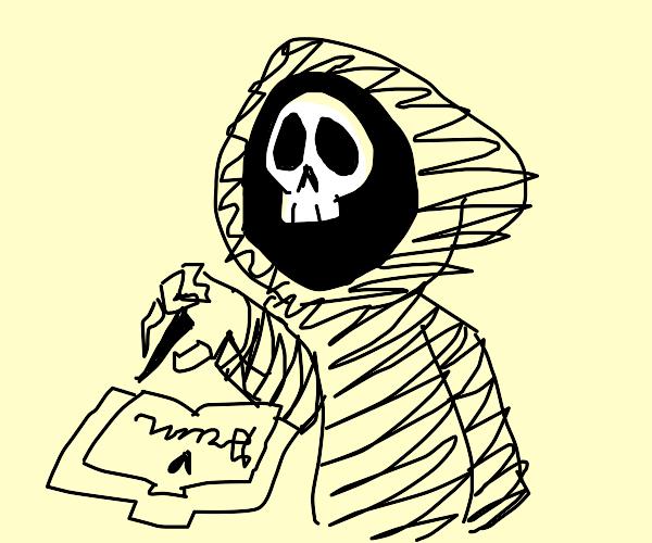 Grim Reaper Book Signing