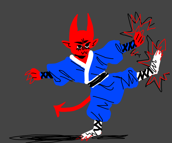 demon has mastered kung fu