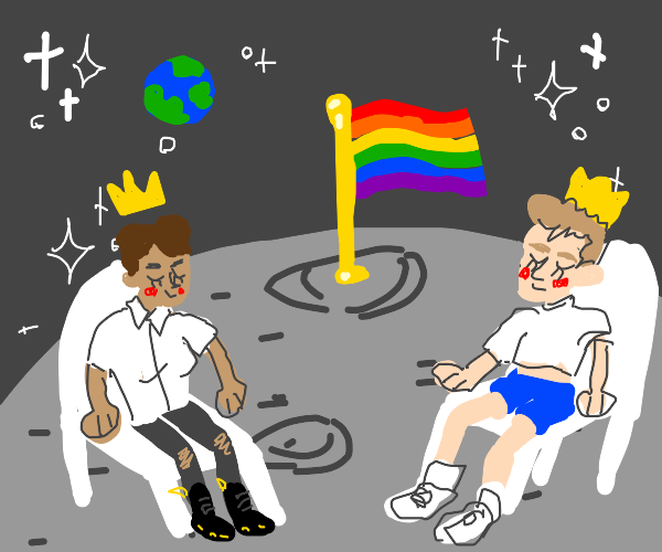 Gays take over the moon