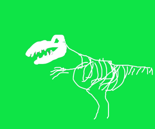 Glorious tyrannosaurus skeleton