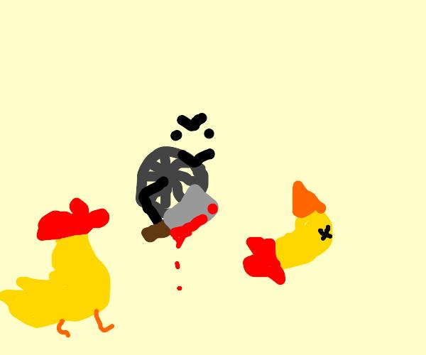 Wheel brutally murders a duck