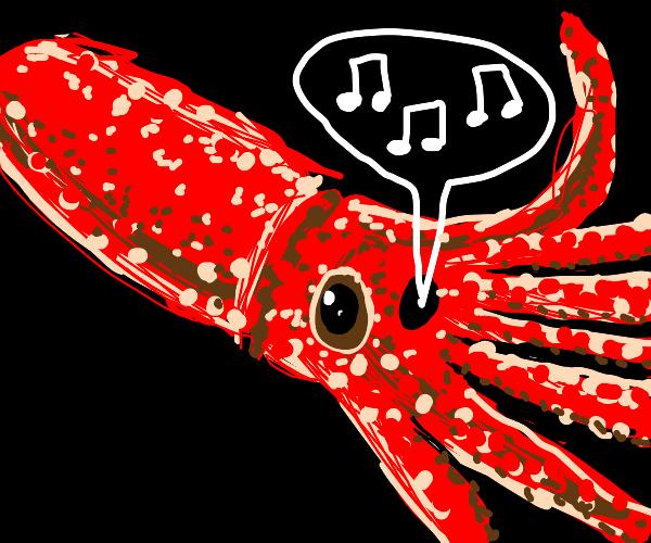 Squid performing opera