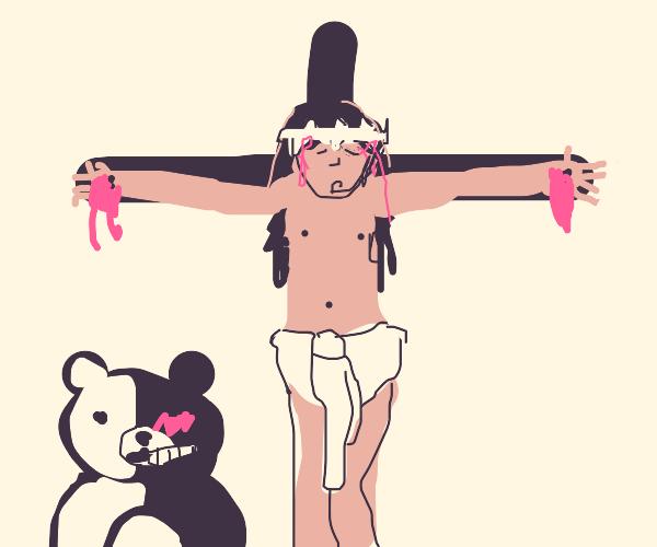 Jesus's crucifixion but Danganronpa